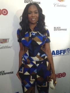 Marlo Hampton walks the Think Like A Man Too red carpert at the ABFF in NYC.